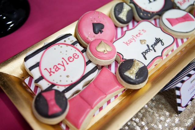 kate spade party cookies