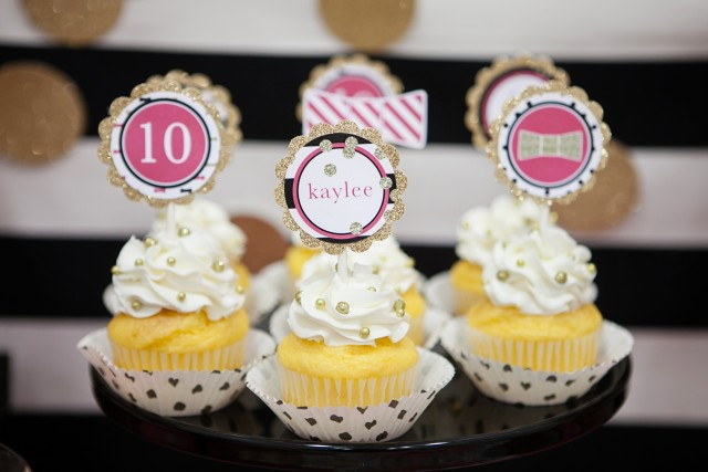 kate spade party cupcakes