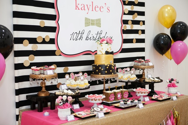 kate spade party desserts