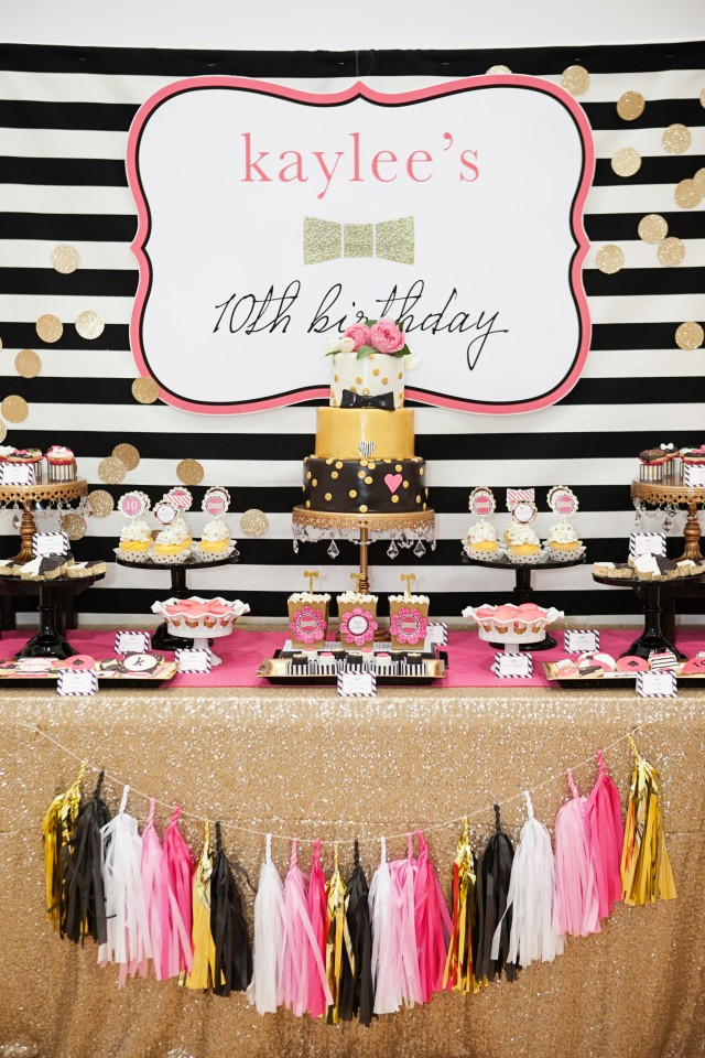 kate spade party dessert table