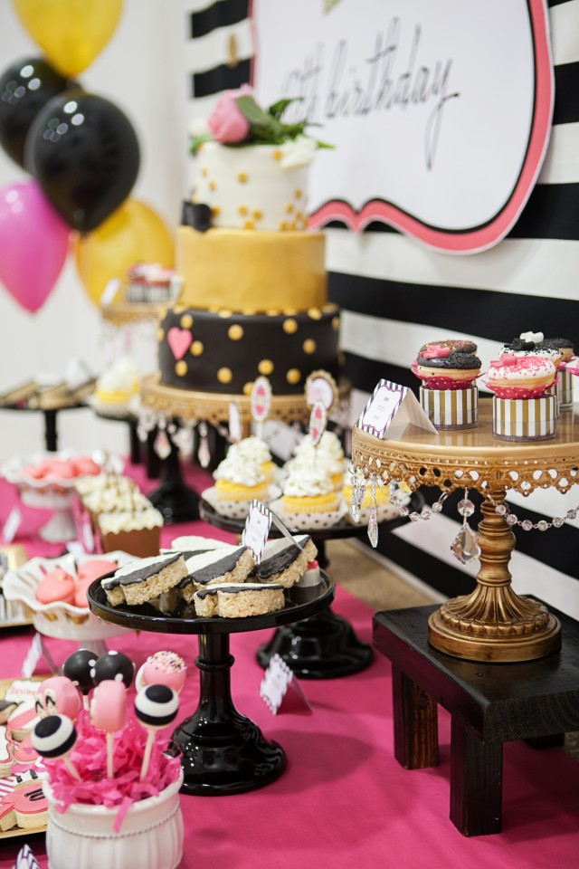 kate spade party dessert