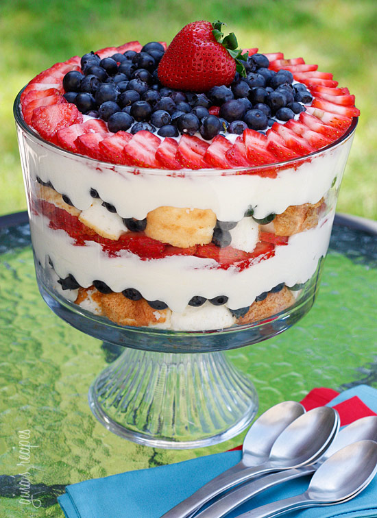 LOW FAT BERRY TRIFLE RECIPE FOR THE FOURTH OF JULY
