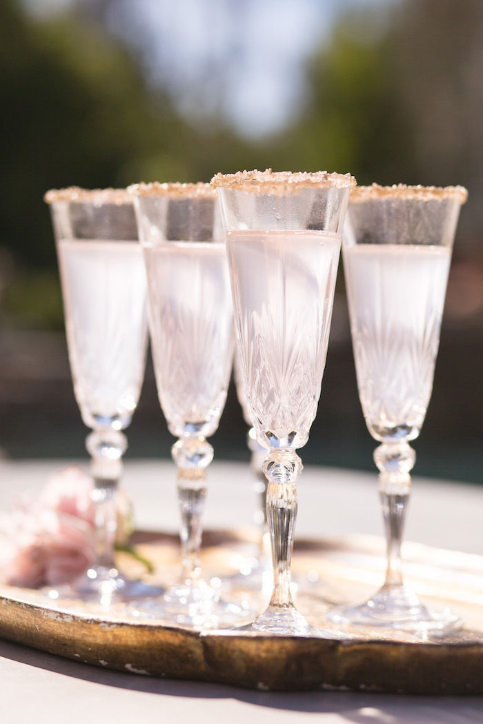 vintage glam first birthday party champagne