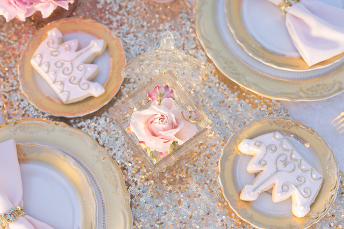 vintage glam first birthday party cookies