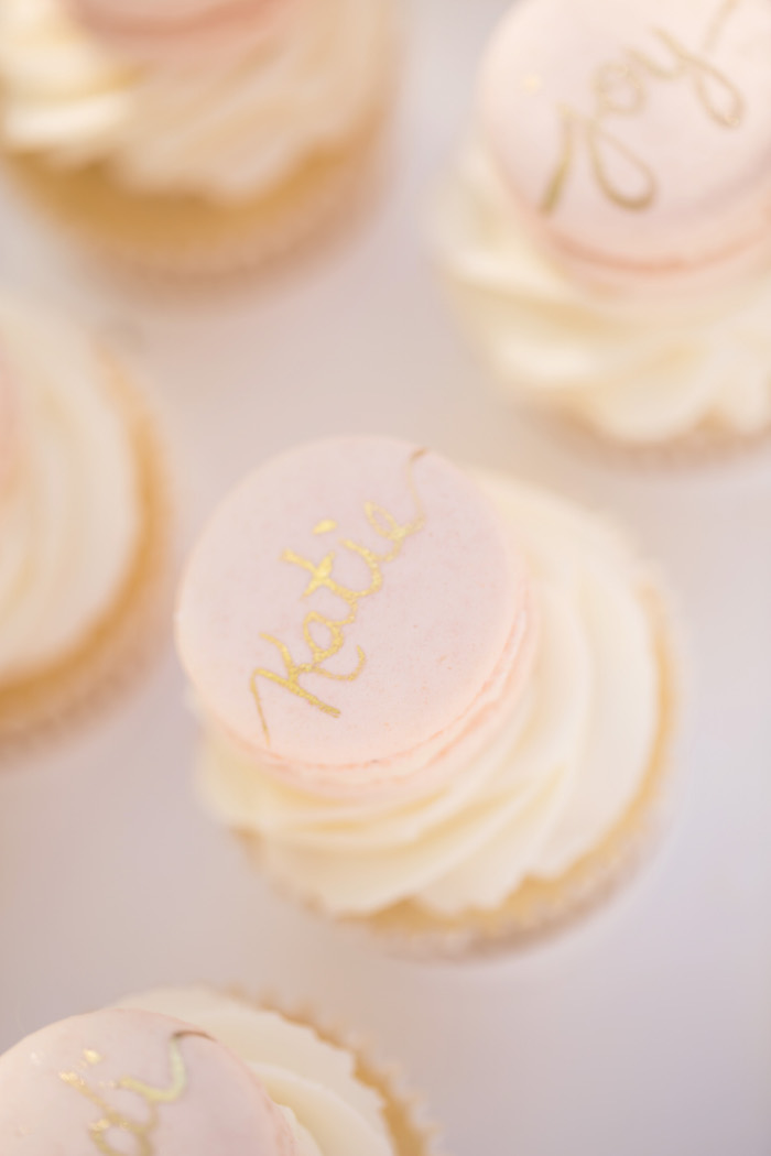 vintage glam first birthday party cupcakes