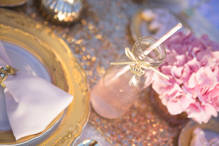 vintage glam first birthday party drink ideas