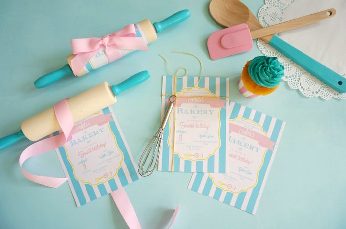 Bakery-Birthday-Party invitations