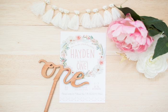 Boho Chic Birthday Party Invitation