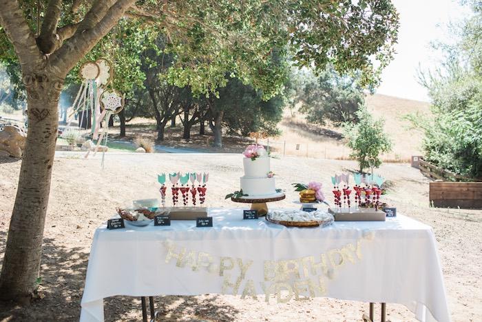 Boho Chic Birthday Party  Table