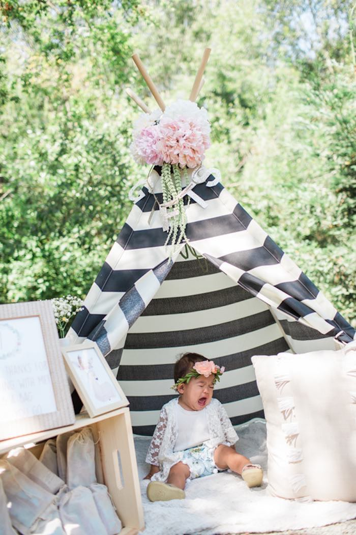 Sweetly Feature Boho Chic 1st Birthday Party