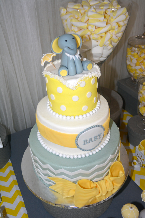 Modern Elephant Baby Shower