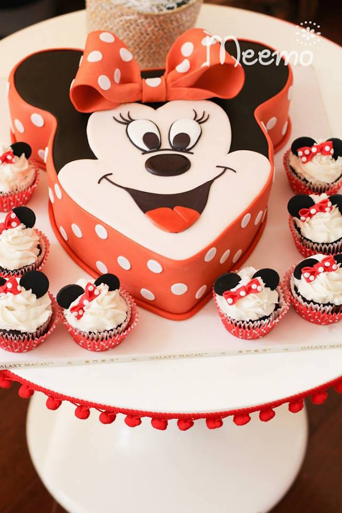 Minnie Mouse Birthday Party Cake