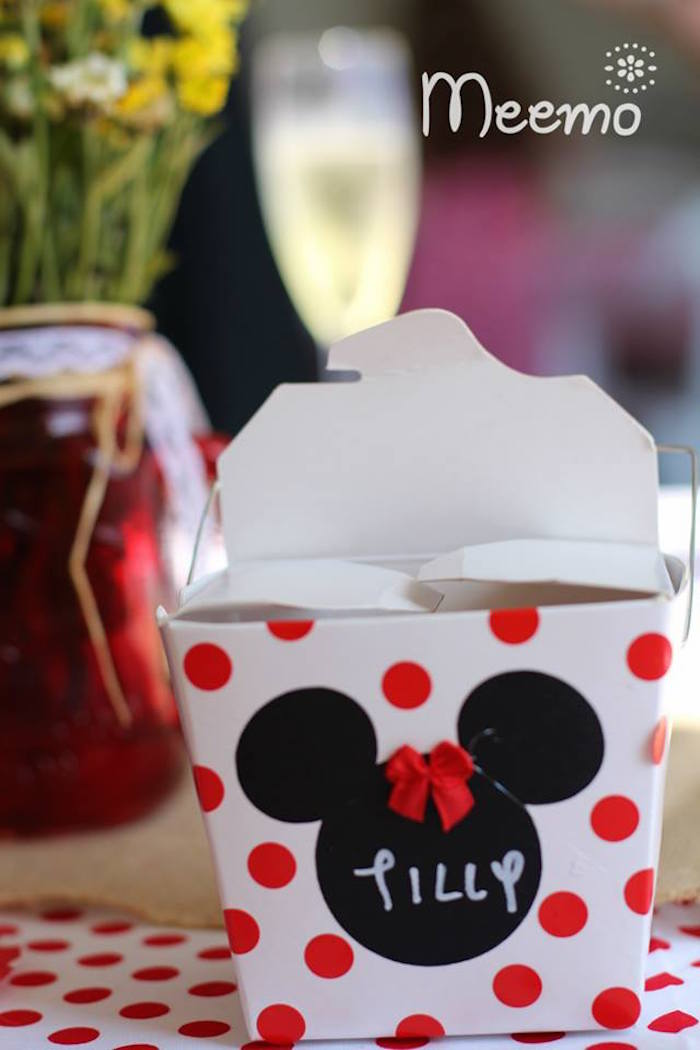 Minnie Mouse Birthday Party Favor Box