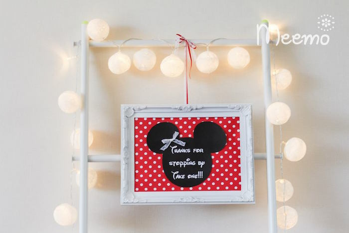 Minnie Mouse Birthday Party Favor Signage