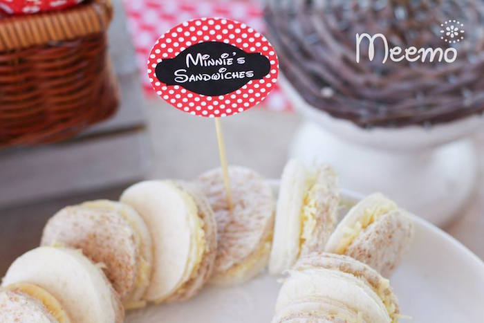 Minnie Mouse Birthday Party Food Detail