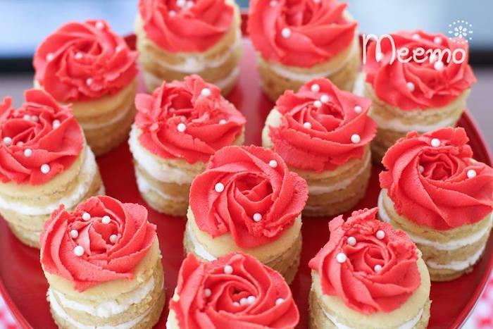 Minnie Mouse Birthday Party Mini cakes
