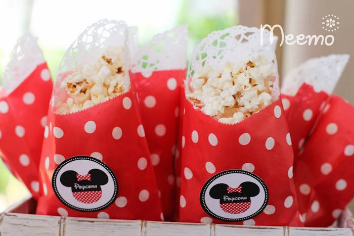 Minnie Mouse Birthday Party Popcorn