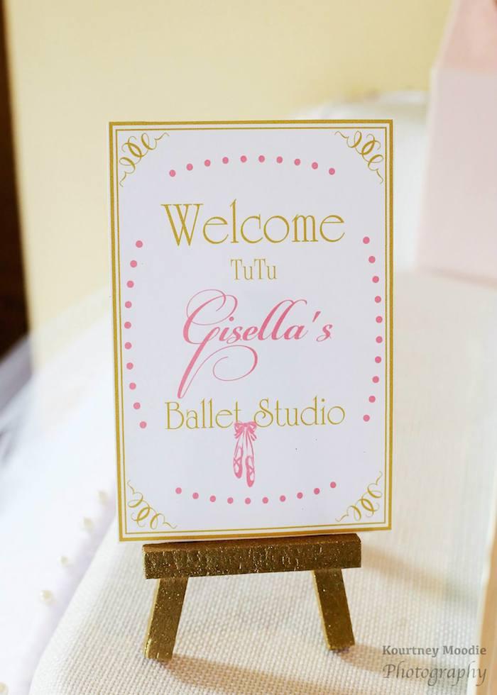 Pink Amp Gold Ballerina Birthday
