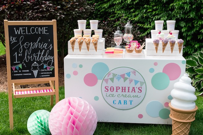 colorful ice cream birthday party
