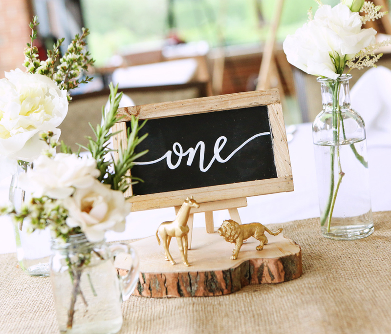 safari birthday party table numbers