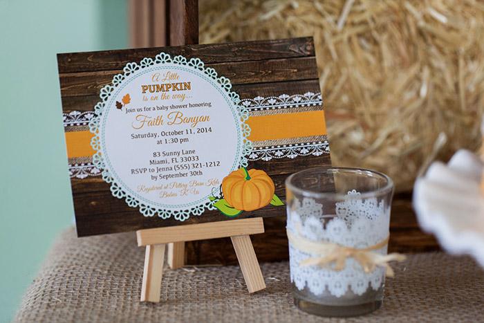 Rustic little pumpkin fall baby shower fall little pumpkin baby shower invitation filmwisefo