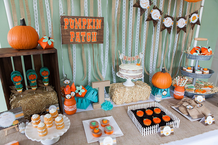 Rustic little pumpkin fall baby shower