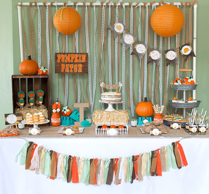 sweetly feature rustic little pumpkin fall baby shower