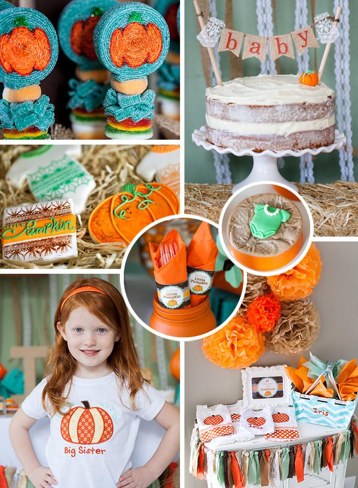 fall little pumpkin baby shower