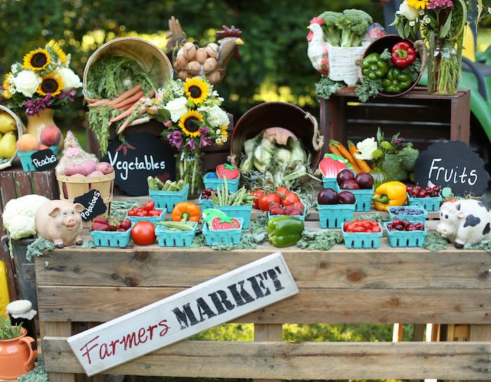 Farmers Market Birthday Party Food Ideas
