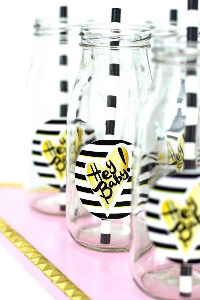 hipster glam baby shower drink ideas