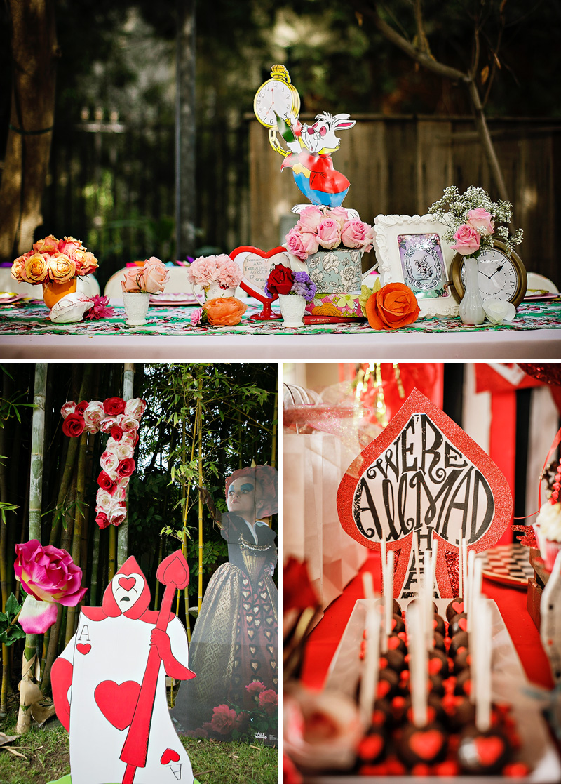 Alice in wonderland birthday party - Alice in the wonderland party decorations ...