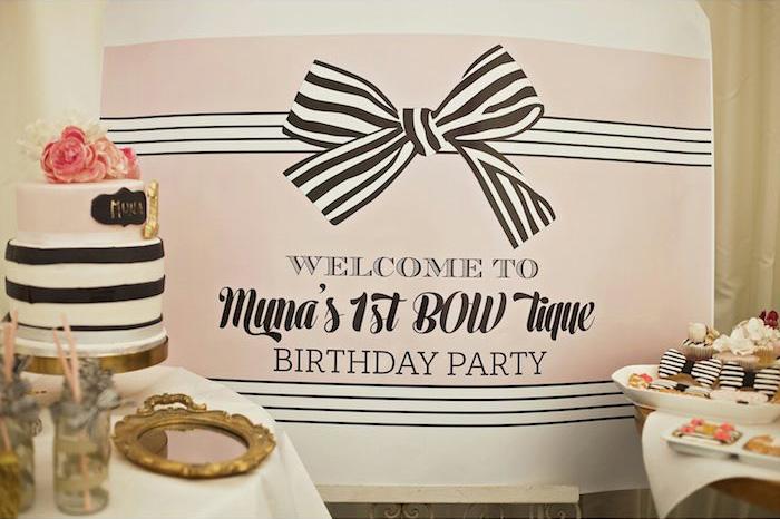 Fashion Boutique Birthday Party Backdrop
