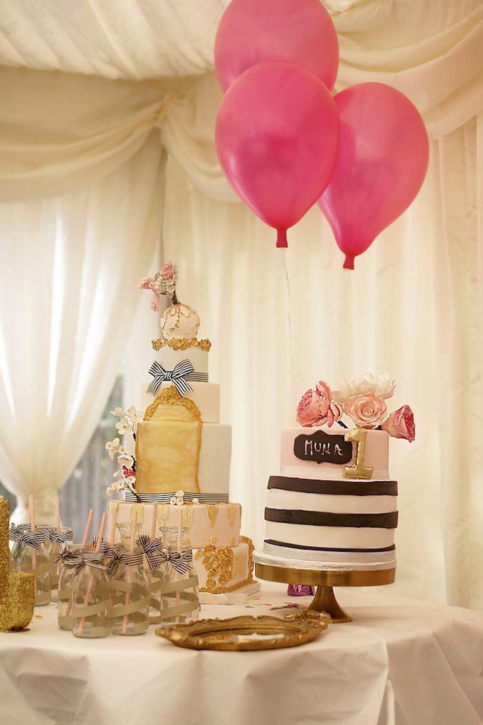 Fashion Boutique Birthday Party Backdrop cakes