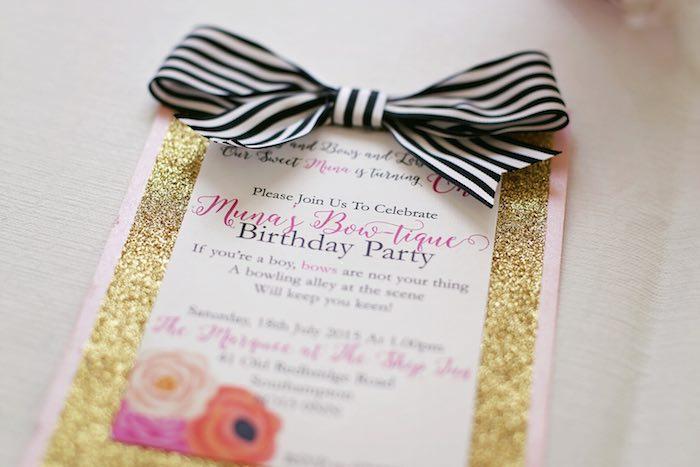 Fashion Boutique Birthday Party Invitation