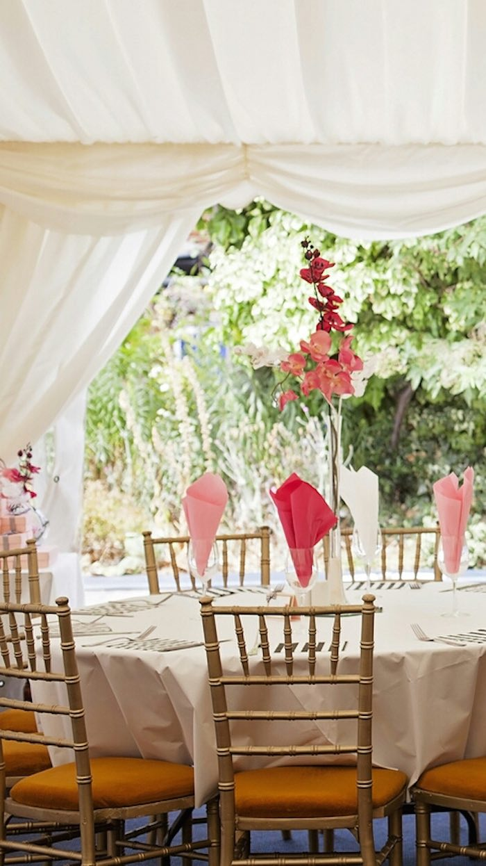 Fashion Boutique Birthday Party SEating