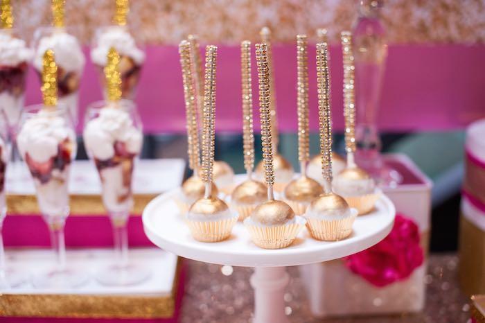 Glamorous Pink Gold 40th Birthday Celebration