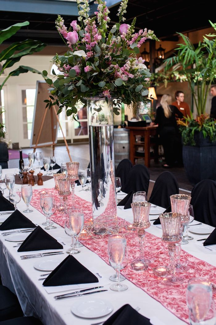 Glamorous pink gold th birthday celebration
