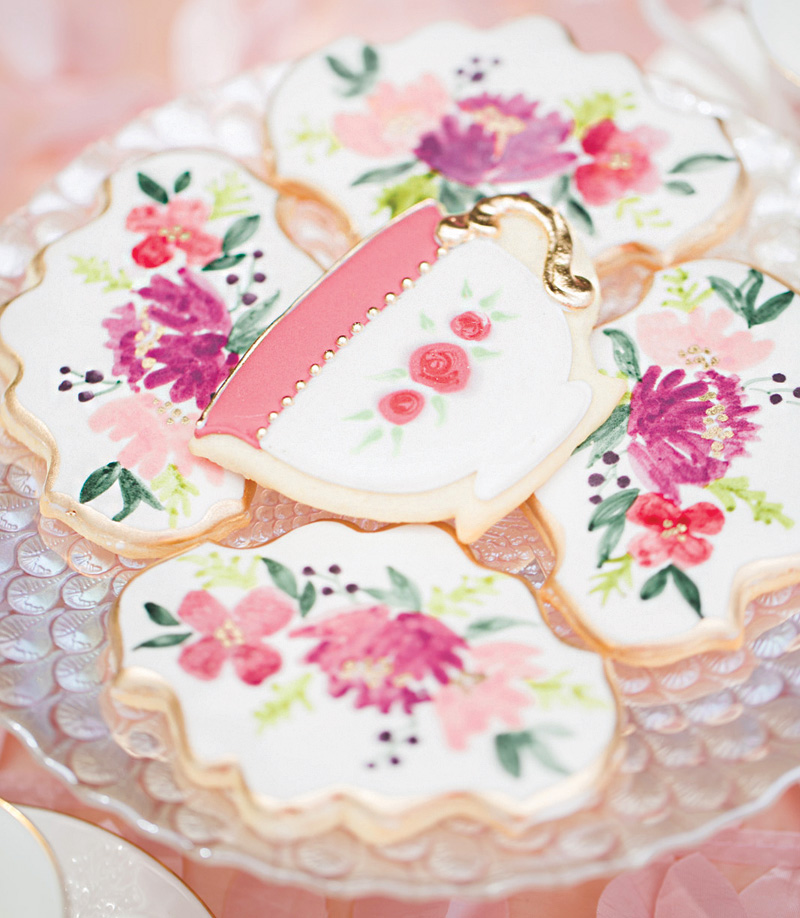 princess tea party sugar cookies