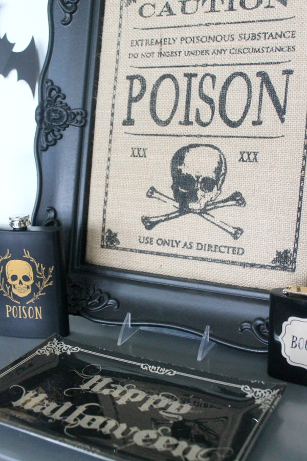 Halloween Party Poison Sign
