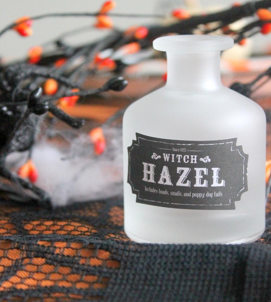 Halloween Party Witch Hazel Bottle
