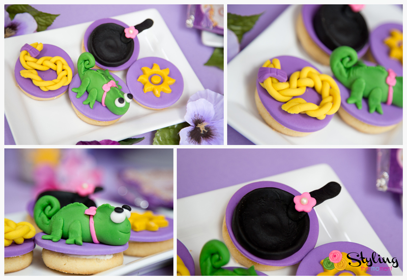 tangled birthday party cookies