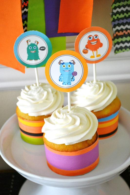 monster bash halloween party cupcakes