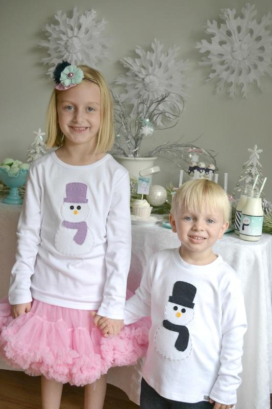 Winter Wonderland Party Snowman Shirts