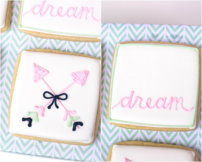 bow and arrow themed birthday party cookies
