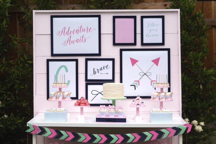 bow and arrow themed birthday party