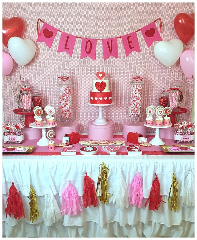sweet valentines day kids party