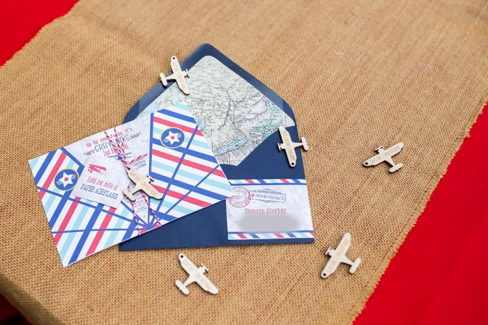 Vintage Airplane Party Invitations