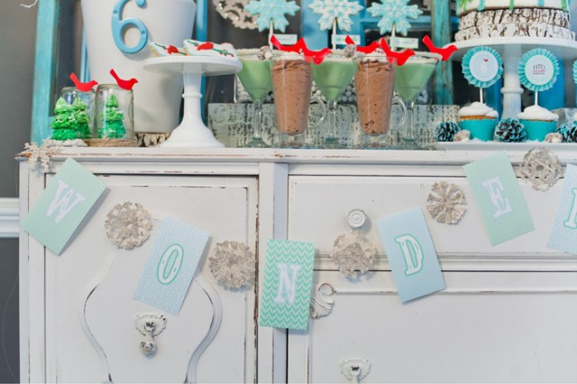 Whimsical Winter Wonderland Birthday Party banner