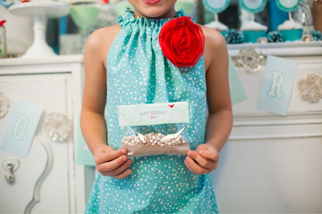 Whimsical Winter Wonderland Birthday Party hot cocoa