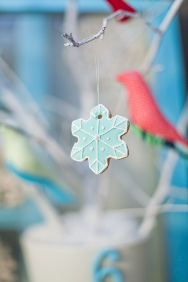 Whimsical Winter Wonderland Birthday Party snowflake cookie